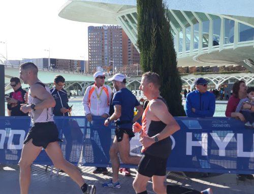 Erik Dambrink loopt in Valencia een PR